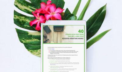 40 Blog Post Ideas