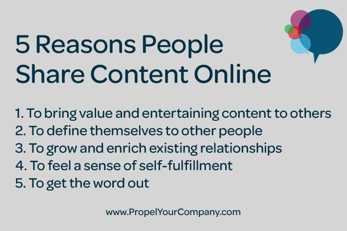 5 Reasons People Share Content Online
