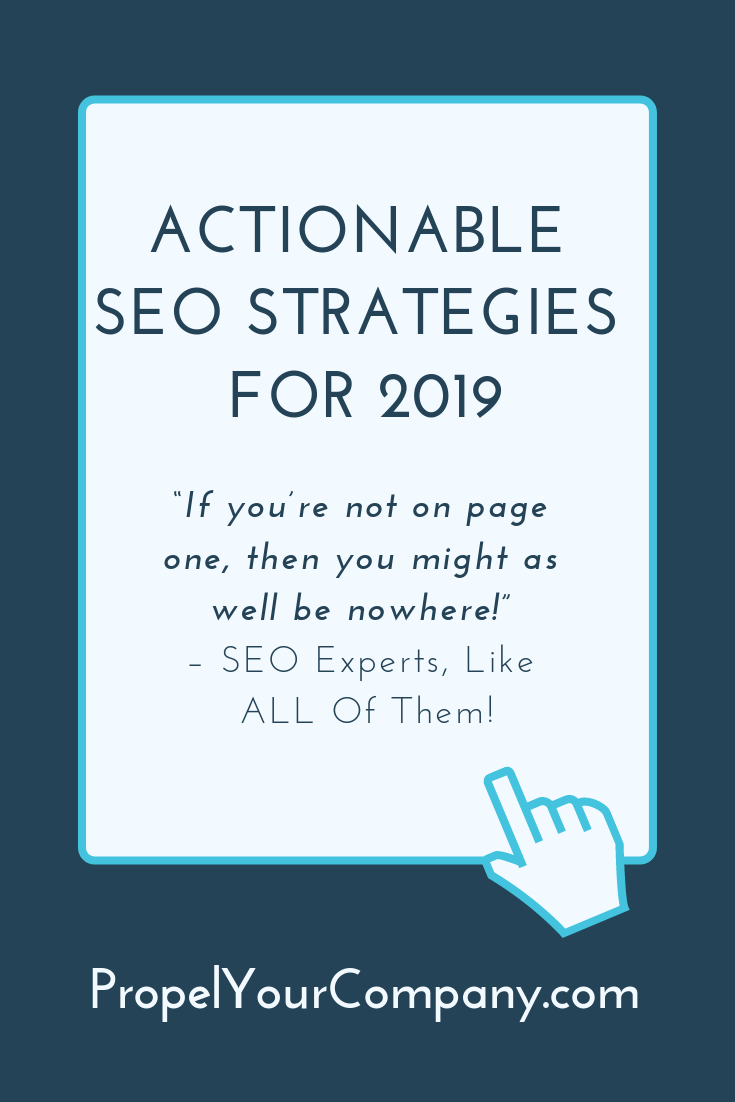 Actionable SEO Strategies for 2019