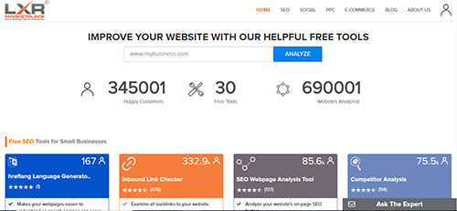 LXR Marketplace allows you to compare your SEO performance, as well as keyword analysis, with that of your competitors.