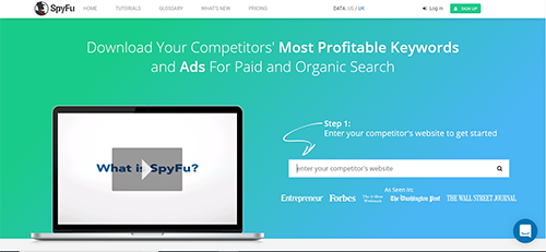 Competitive intelligence tool that tracks competitors' keywords, PPC and ad copy.