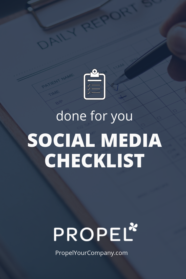 Done for you social media checklist