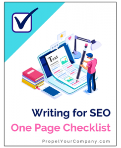 download writing for seo one page chacklist
