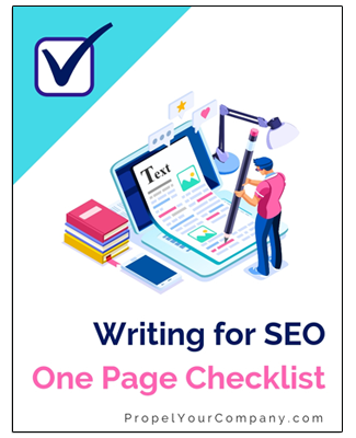 download writing for SEO checklist