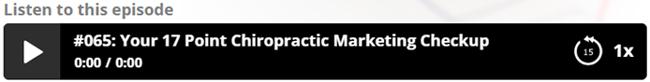 listen the modern chiropractic marketing show