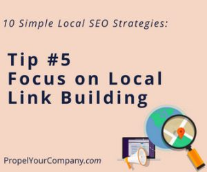 Focus on Local Link Building