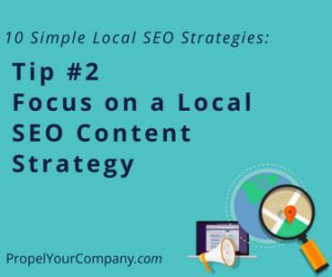 Focus on a Local SEO Content Strategy