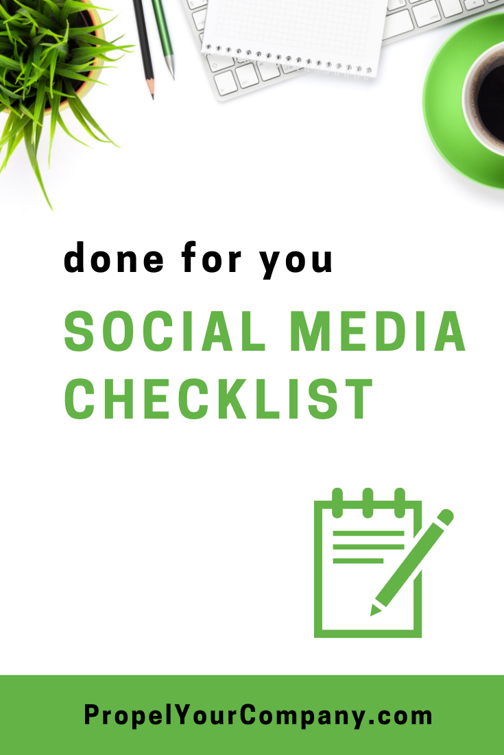 Grab your copy of the done for you social media checklist
