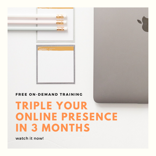 Triple your online presence in 3 months