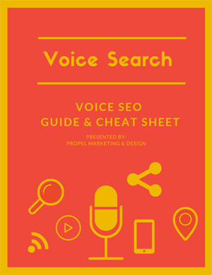 Grab your copy of Voice Search: Voice SEO Guide & Cheat Sheet